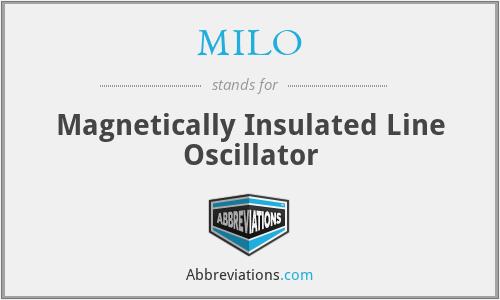 MILO - Magnetically Insulated Line Oscillator