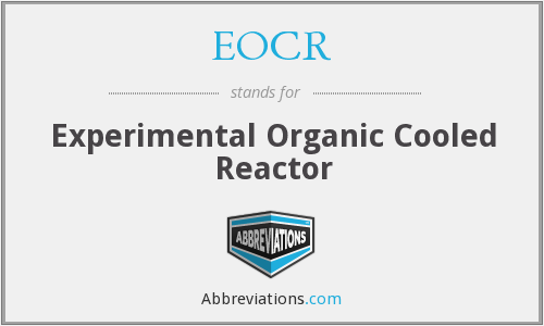 EOCR - Experimental Organic Cooled Reactor