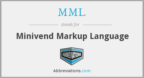 MML - Minivend Markup Language