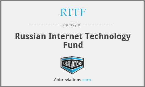 RITF - Russian Internet Technology Fund