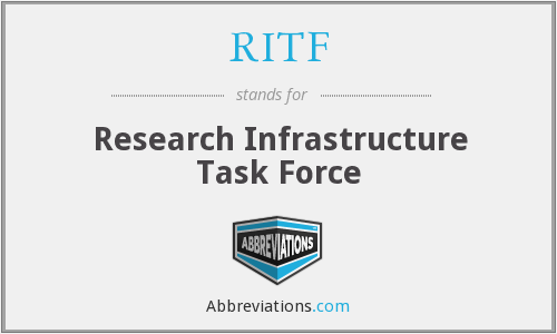 RITF - Research Infrastructure Task Force