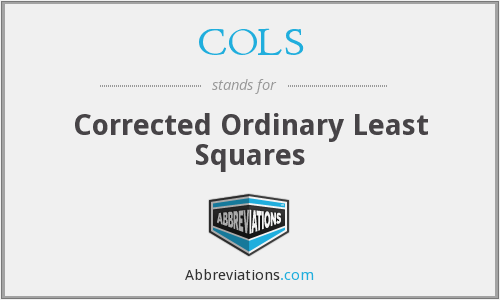COLS - Corrected Ordinary Least Squares