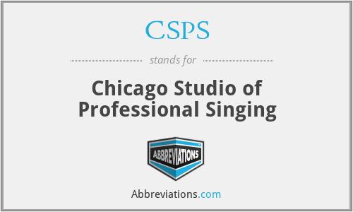 CSPS - Chicago Studio of Professional Singing