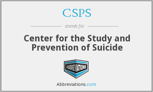 CSPS - Center for the Study and Prevention of Suicide