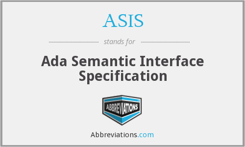 ASIS - Ada Semantic Interface Specification