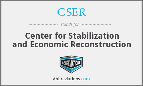 CSER - Center for Stabilization and Economic Reconstruction