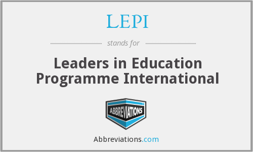 What does LEPI stand for?