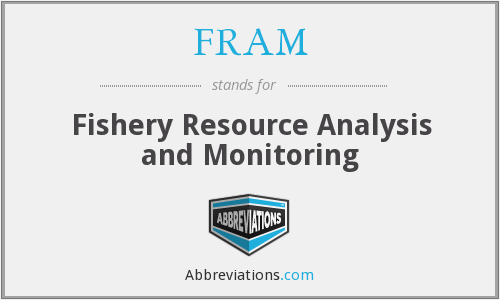 FRAM - Fishery Resource Analysis and Monitoring