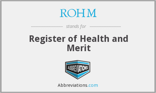 What does ROHM stand for?