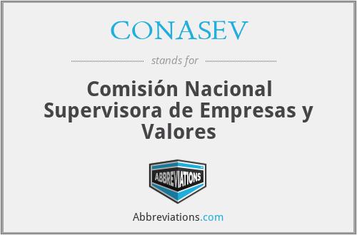 CONASEV - Comisión Nacional Supervisora de Empresas y Valores