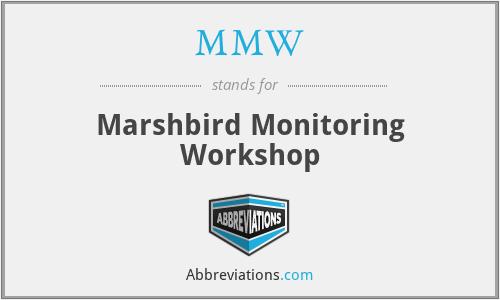 MMW - Marshbird Monitoring Workshop