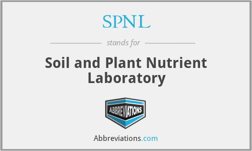 SPNL - Soil and Plant Nutrient Laboratory