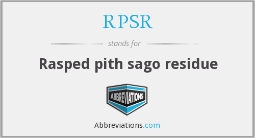 What does RPSR stand for?