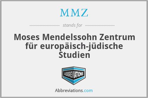 MMZ - Moses Mendelssohn Zentrum für europäisch-jüdische Studien