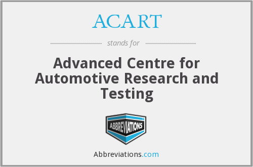 What does ACART stand for?