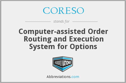 CORESO - Computer-assisted Order Routing and Execution System for Options