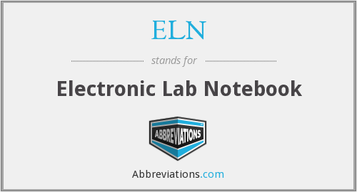 ELN - Electronic Lab Notebook