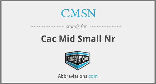 CMSN - Cac Mid Small Nr
