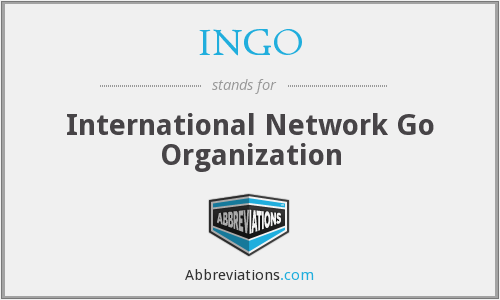 What does INGO stand for?