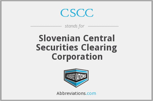 CSCC - Slovenian Central Securities Clearing Corporation