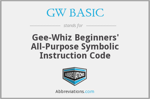 What does GW BASIC stand for?