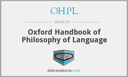 What does OHPL stand for?