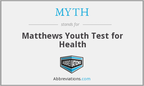 MYTH - Matthews Youth Test for Health