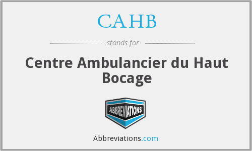 What does CAHB stand for?