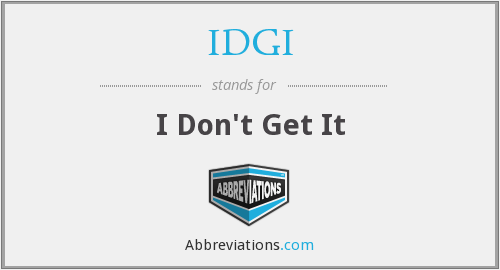 What does IDGI stand for?