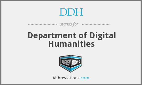 DDH - Department of Digital Humanities