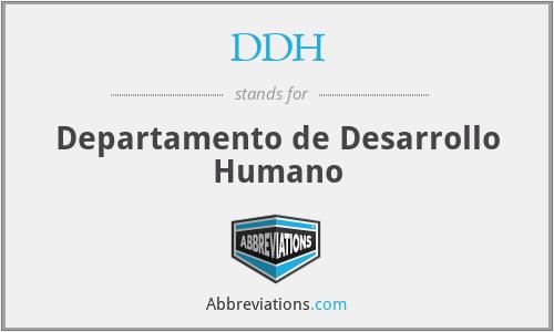 DDH - Departamento de Desarrollo Humano