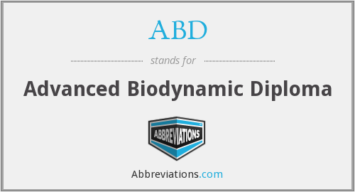 ABD - Advanced Biodynamic Diploma