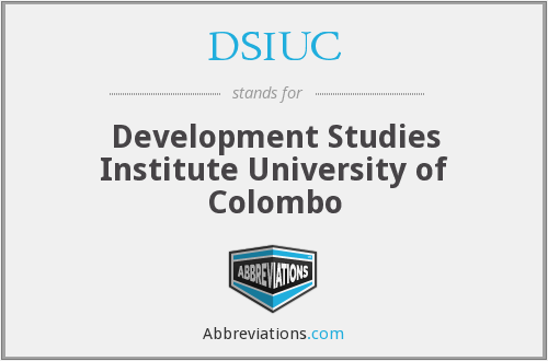 DSIUC - Development Studies Institute University of Colombo