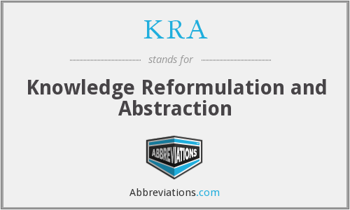 KRA - Knowledge Reformulation and Abstraction