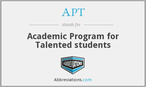APT - Academic Program for Talented students