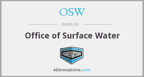 OSW - Office of Surface Water