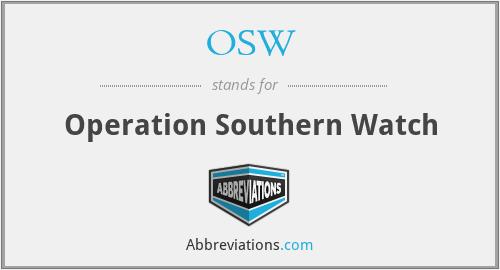 OSW - Operation Southern Watch