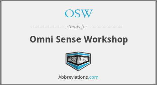 OSW - Omni Sense Workshop