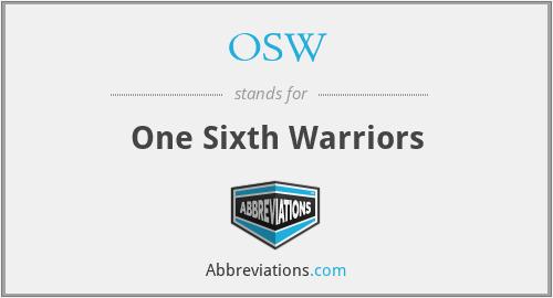 OSW - One Sixth Warriors