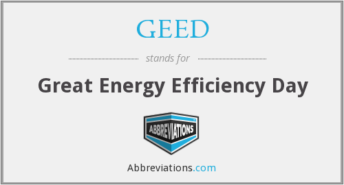 GEED - Great Energy Efficiency Day