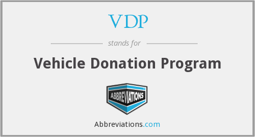 VDP - Vehicle Donation Program