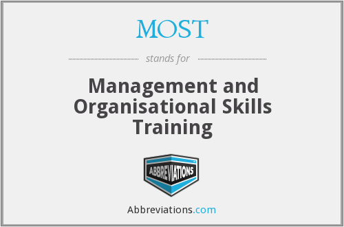MOST - Management and Organisational Skills Training