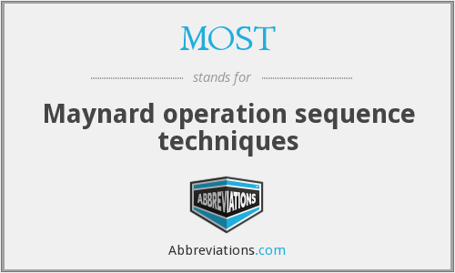 MOST - Maynard operation sequence techniques