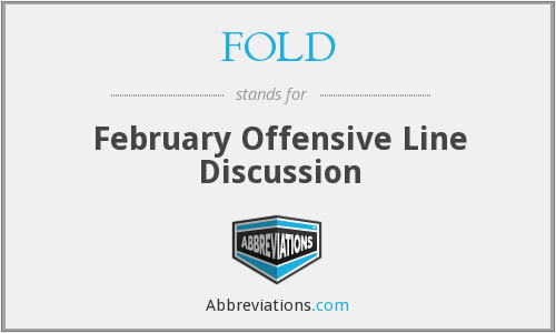 FOLD - February Offensive Line Discussion