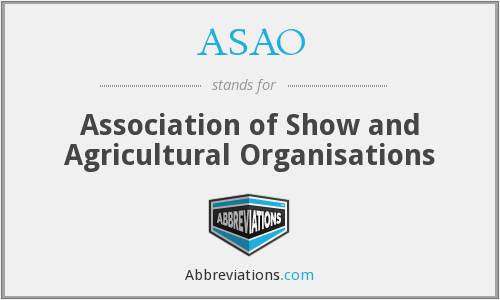 What does ASAO stand for?