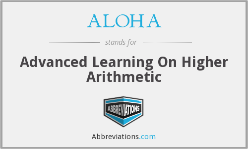 ALOHA - Advanced Learning On Higher Arithmetic