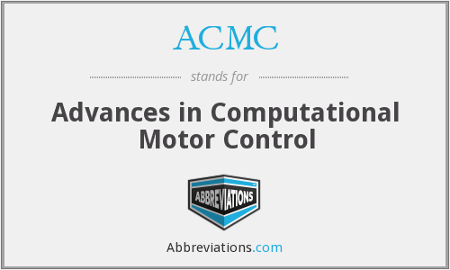 ACMC - Advances in Computational Motor Control