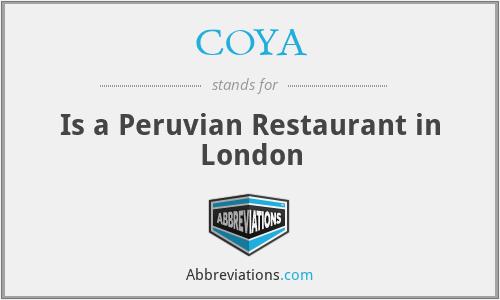 COYA - Is a Peruvian Restaurant in London