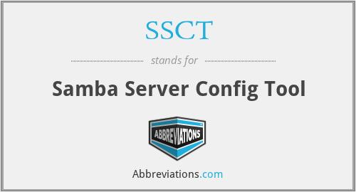 SSCT - Samba Server Config Tool