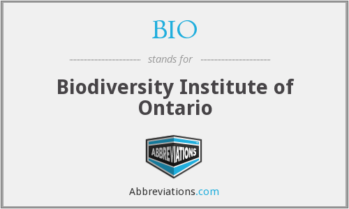 BIO - Biodiversity Institute of Ontario
